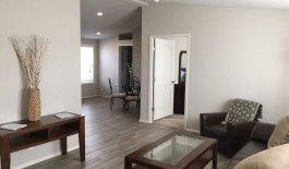LVT flooring in main living area