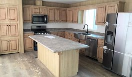 Kitchen with Deluxe Stainless Appliance Package