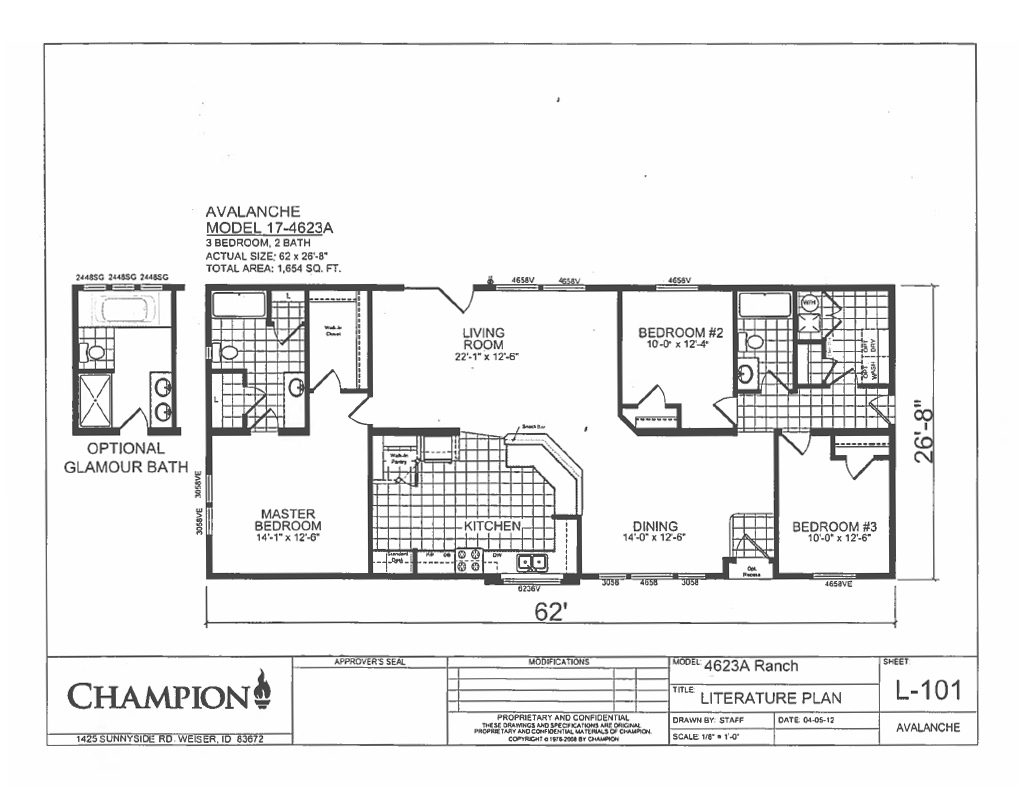 Avalanche Series – Weiss Homes Floor Plans