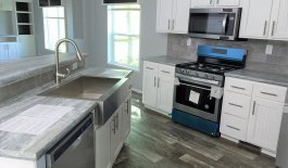 Stainless Steel Farm Sink with Goose Neck Faucet Sprayer